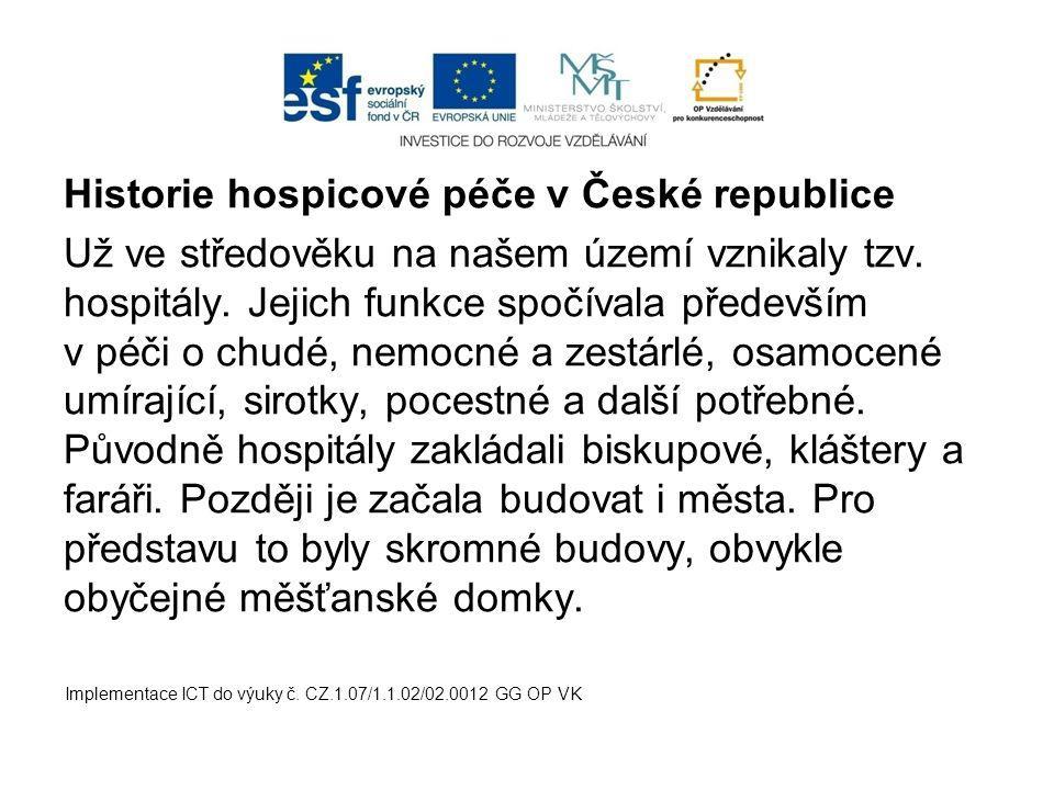Historie hospicové péče v České republice