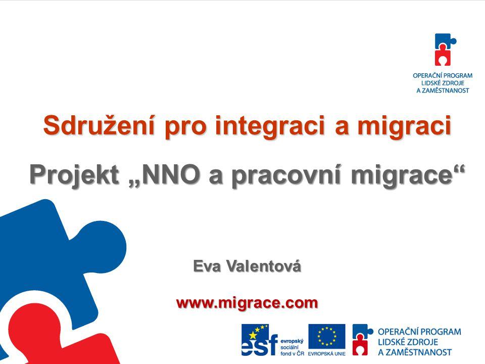 """Sdružení pro integraci a migraci Projekt """"NNO a pracovní migrace"""