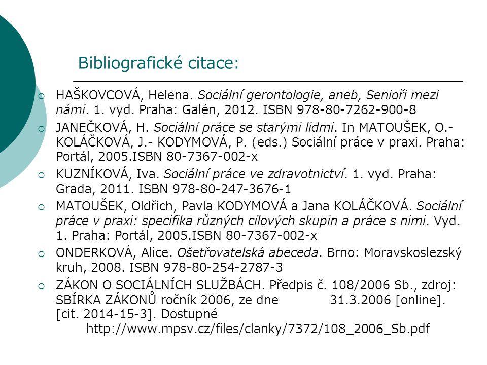 Bibliografické citace: