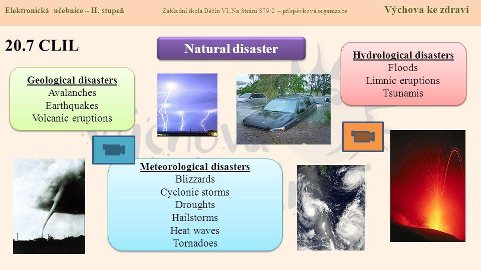 Hydrological disasters Meteorological disasters