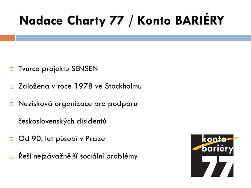 Nadace Charty 77 / Konto BARIÉRY