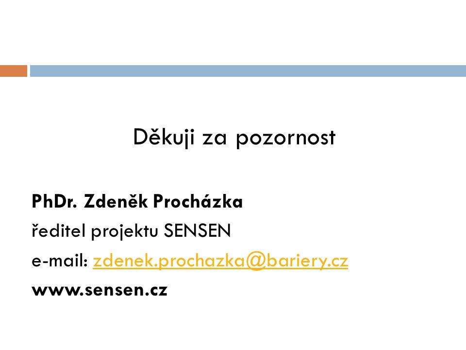 Děkuji za pozornost PhDr. Zdeněk Procházka ředitel projektu SENSEN