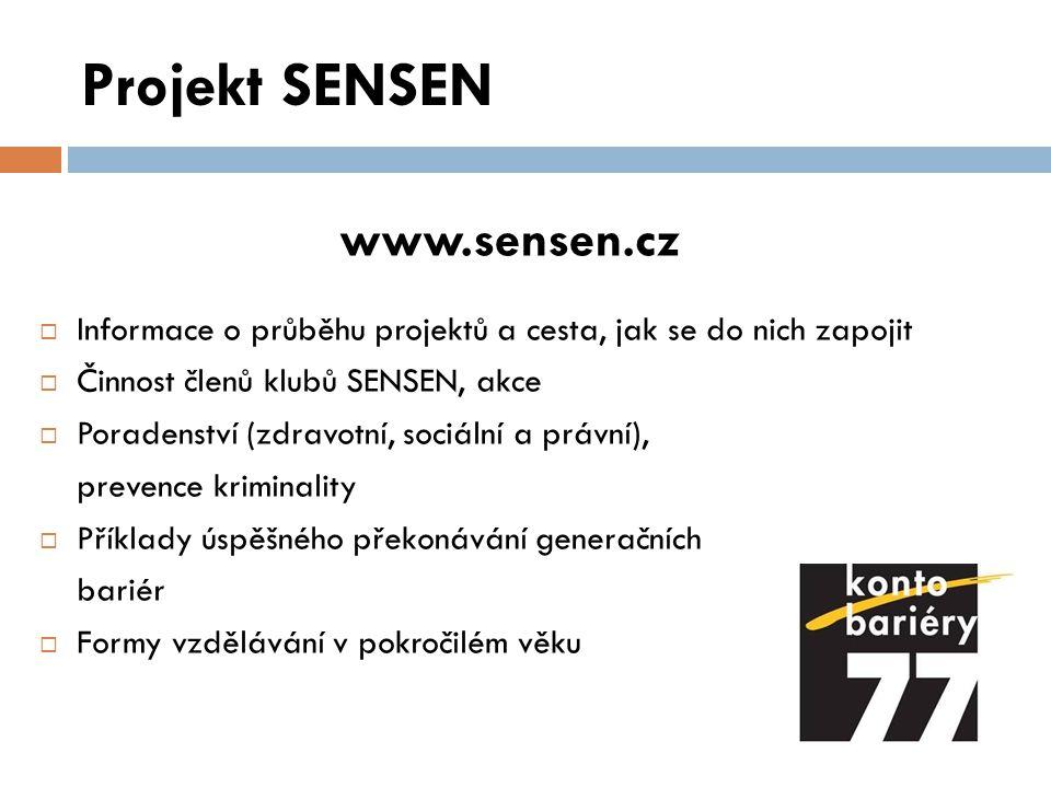 Projekt SENSEN www.sensen.cz
