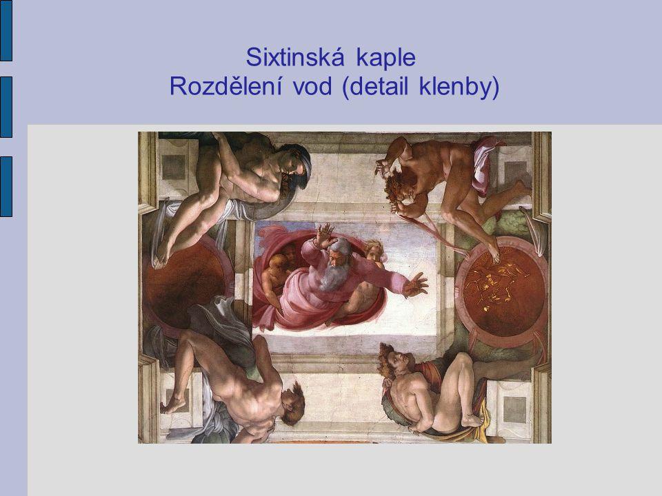 Sixtinská kaple Rozdělení vod (detail klenby)