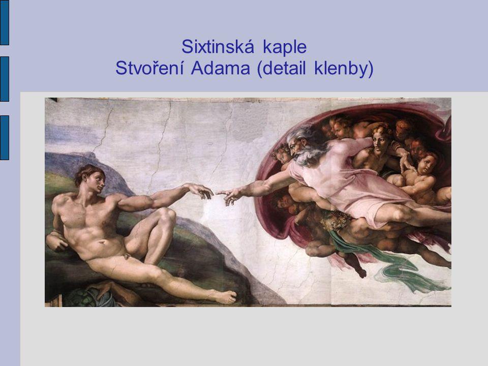 Sixtinská kaple Stvoření Adama (detail klenby)