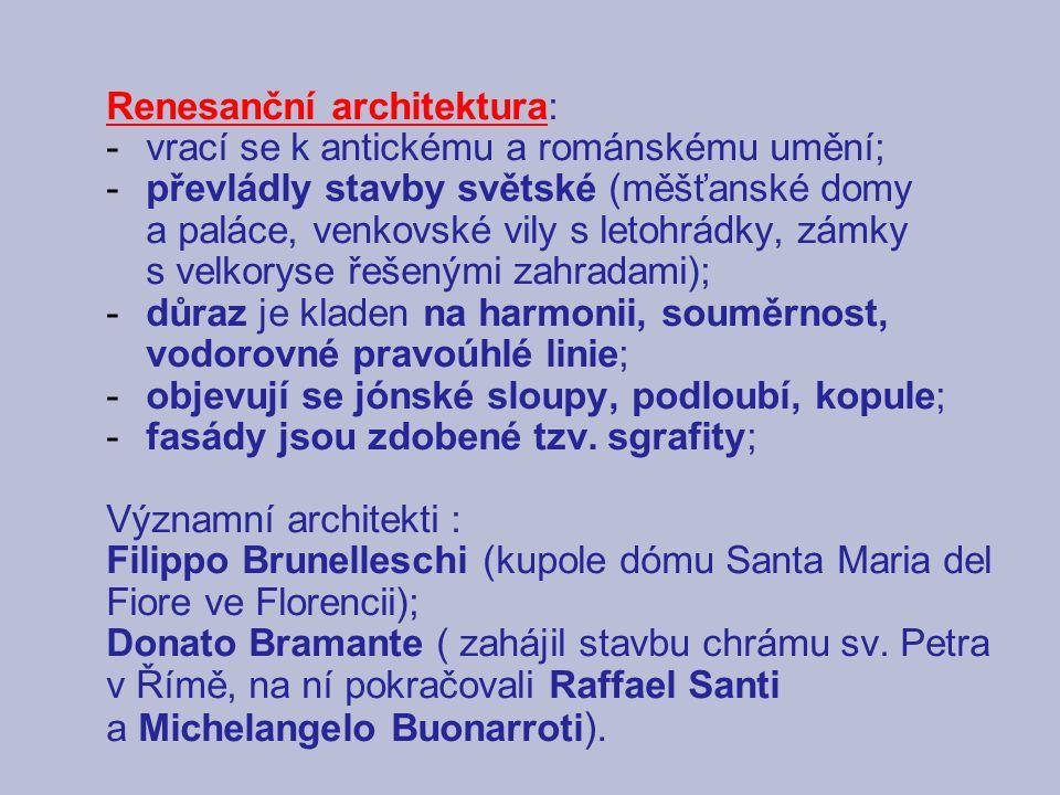 Renesanční architektura: