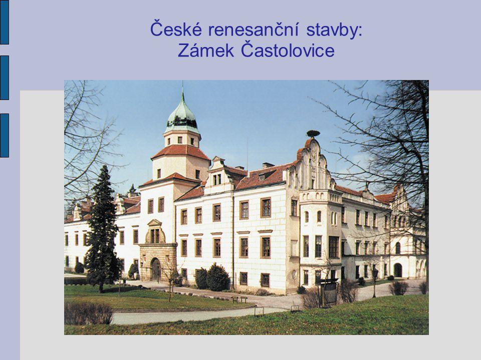 České renesanční stavby: Zámek Častolovice