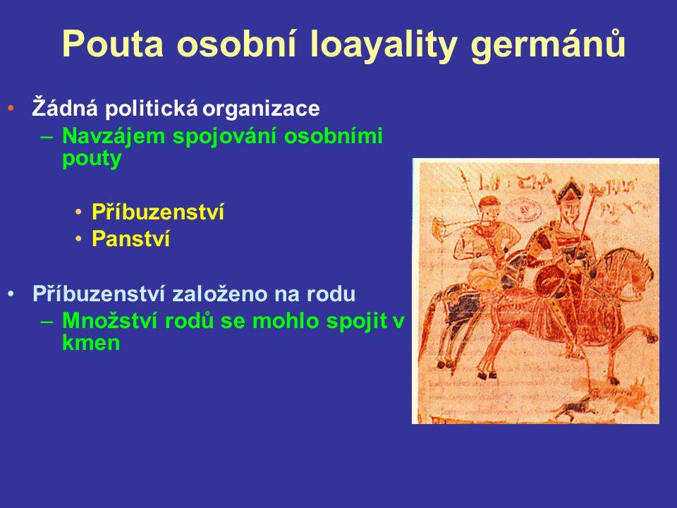 Pouta osobní loayality germánů