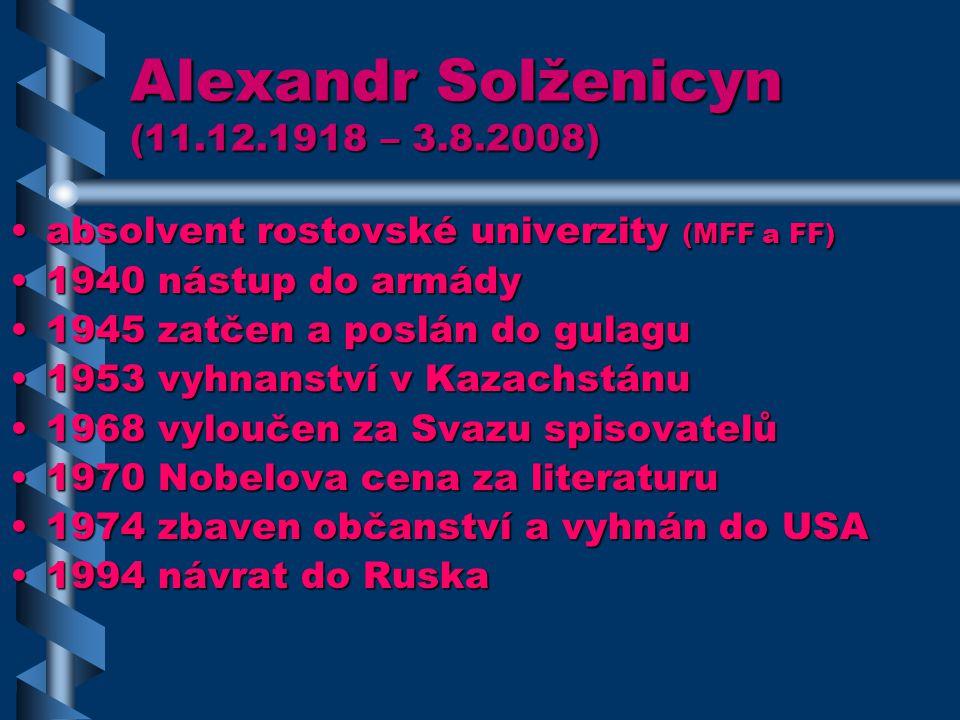 Alexandr Solženicyn (11.12.1918 – 3.8.2008)