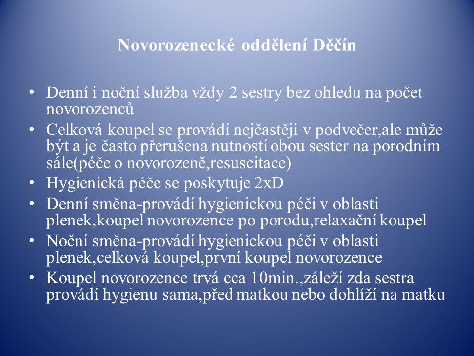 Novorozenecké oddělení Děčín