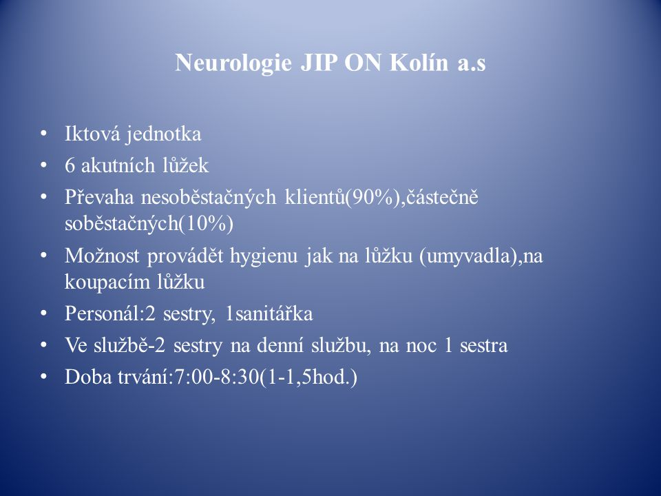 Neurologie JIP ON Kolín a.s