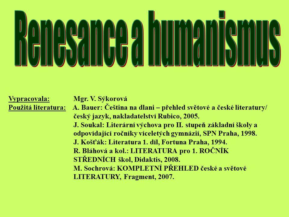 Renesance a humanismus