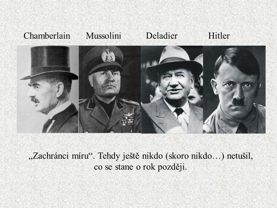 Chamberlain Mussolini Deladier Hitler