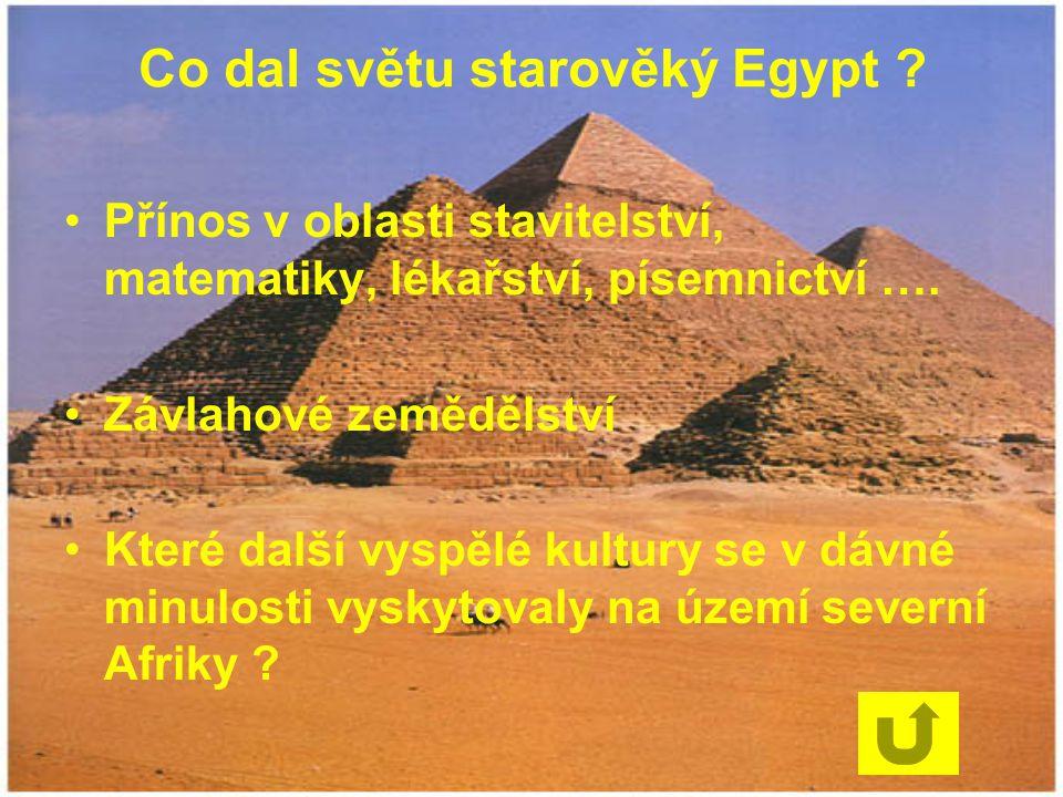 Co dal světu starověký Egypt