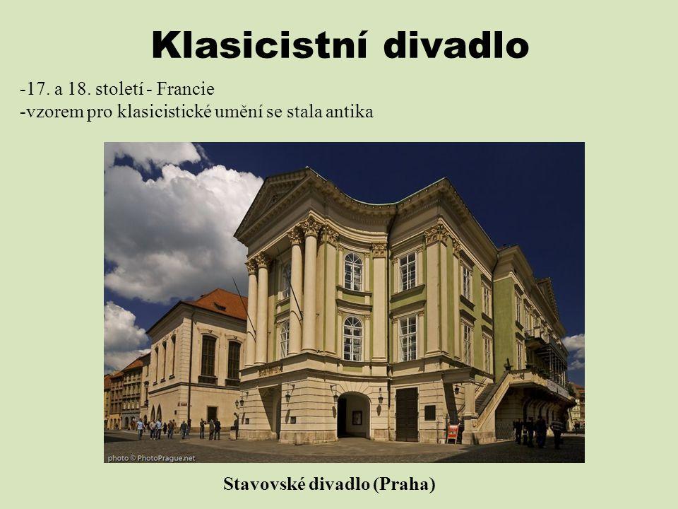 Klasicistní divadlo 17. a 18. století - Francie