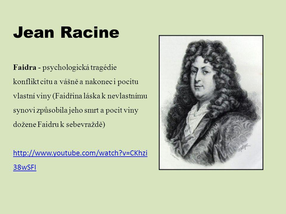 Jean Racine Faidra - psychologická tragédie