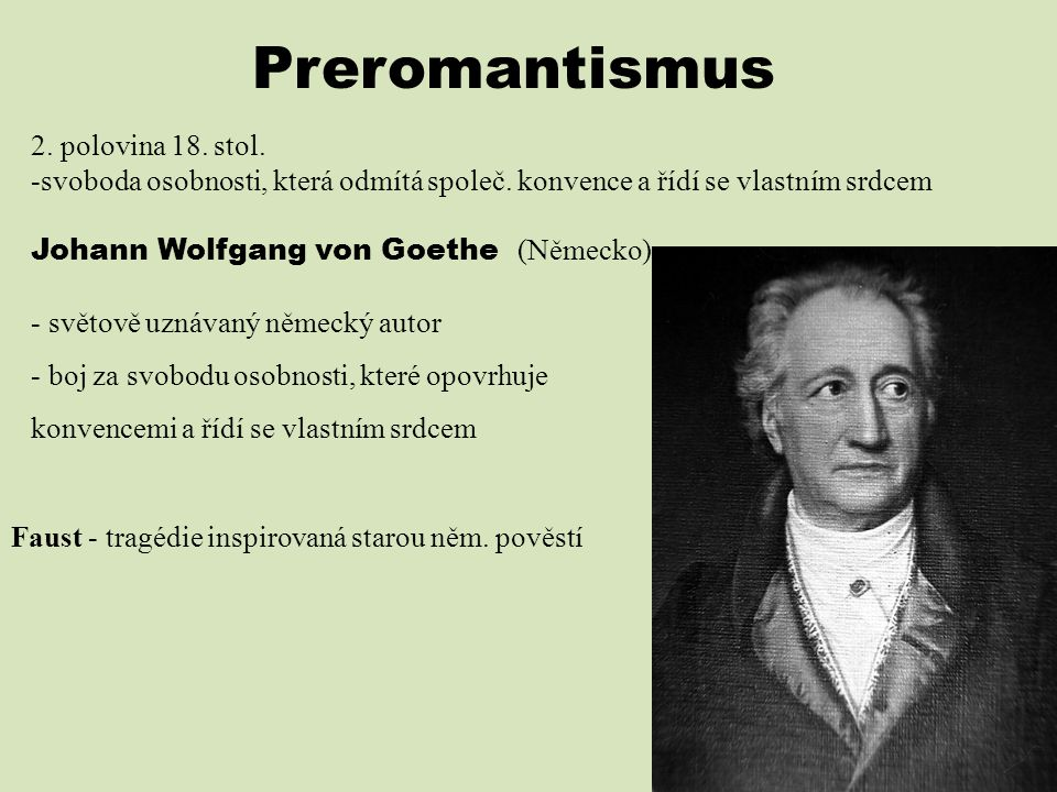 Preromantismus 2. polovina 18. stol.