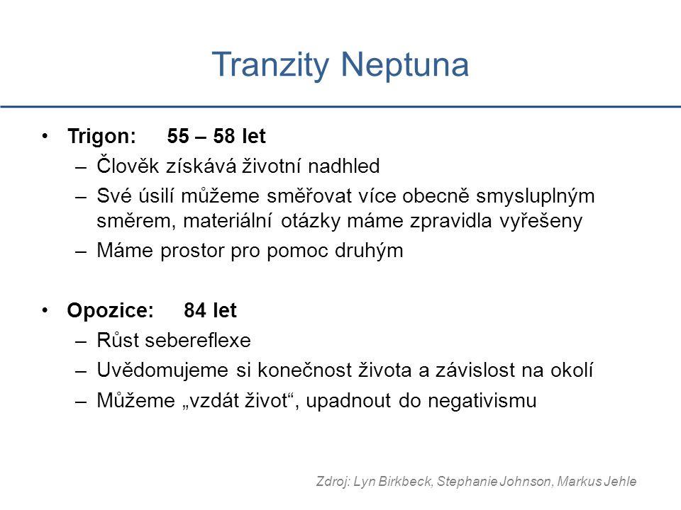 Tranzity Neptuna Trigon: 55 – 58 let Člověk získává životní nadhled