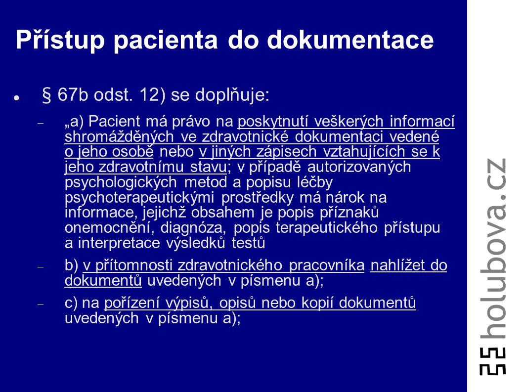 Přístup pacienta do dokumentace