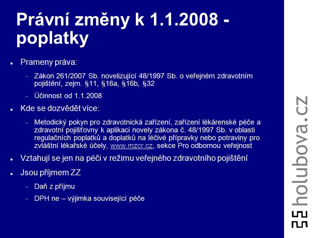 Právní změny k 1.1.2008 - poplatky
