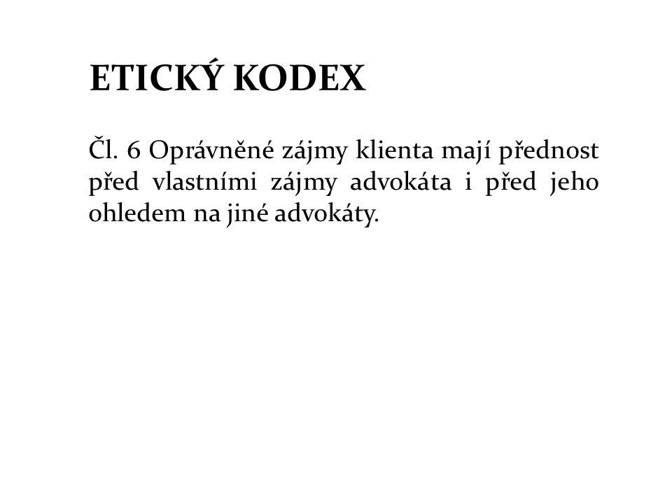 ETICKÝ KODEX Čl.