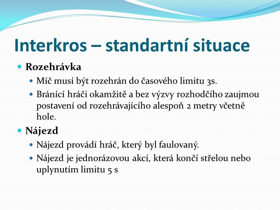 Interkros – standartní situace