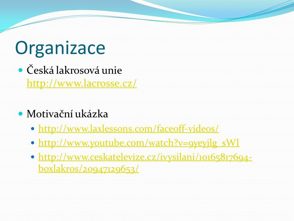 Organizace Česká lakrosová unie http://www.lacrosse.cz/