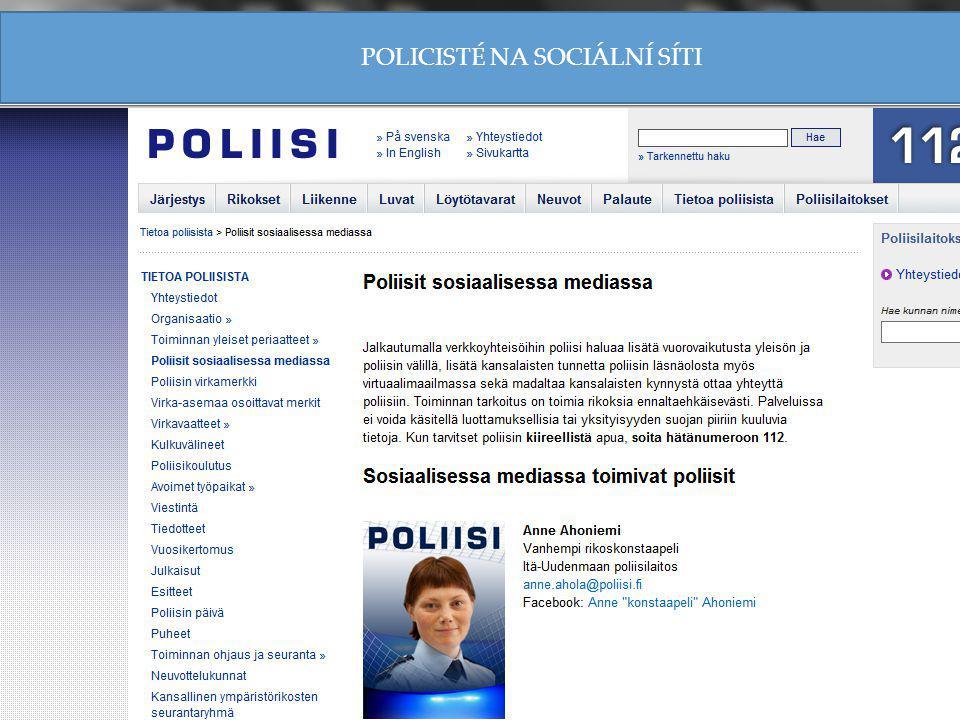 POLICISTÉ NA SOCIÁLNÍ SÍTI