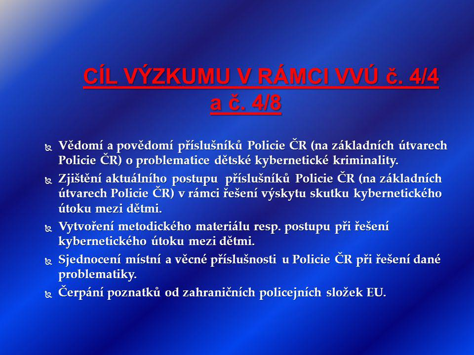 CÍL VÝZKUMU V RÁMCI VVÚ č. 4/4 a č. 4/8