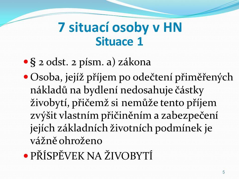 7 situací osoby v HN Situace 1 § 2 odst. 2 písm. a) zákona