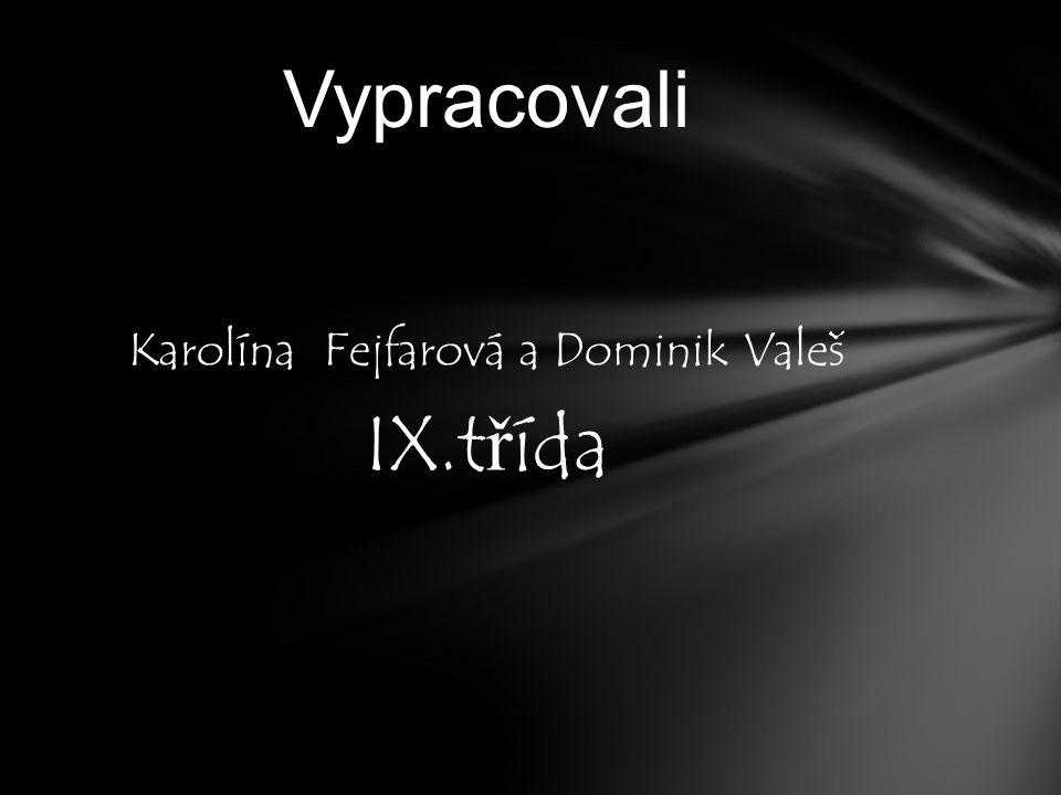 Karolína Fejfarová a Dominik Valeš