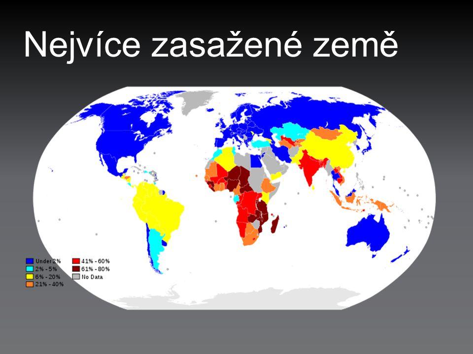 Nejvíce zasažené země