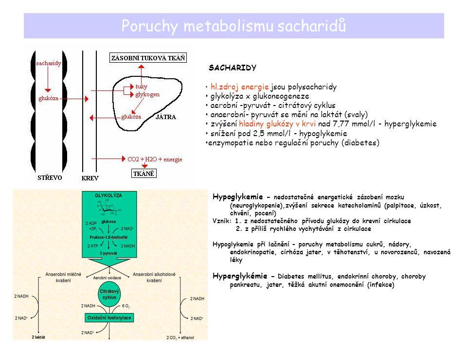 Poruchy metabolismu sacharidů