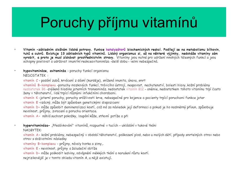 Poruchy příjmu vitamínů