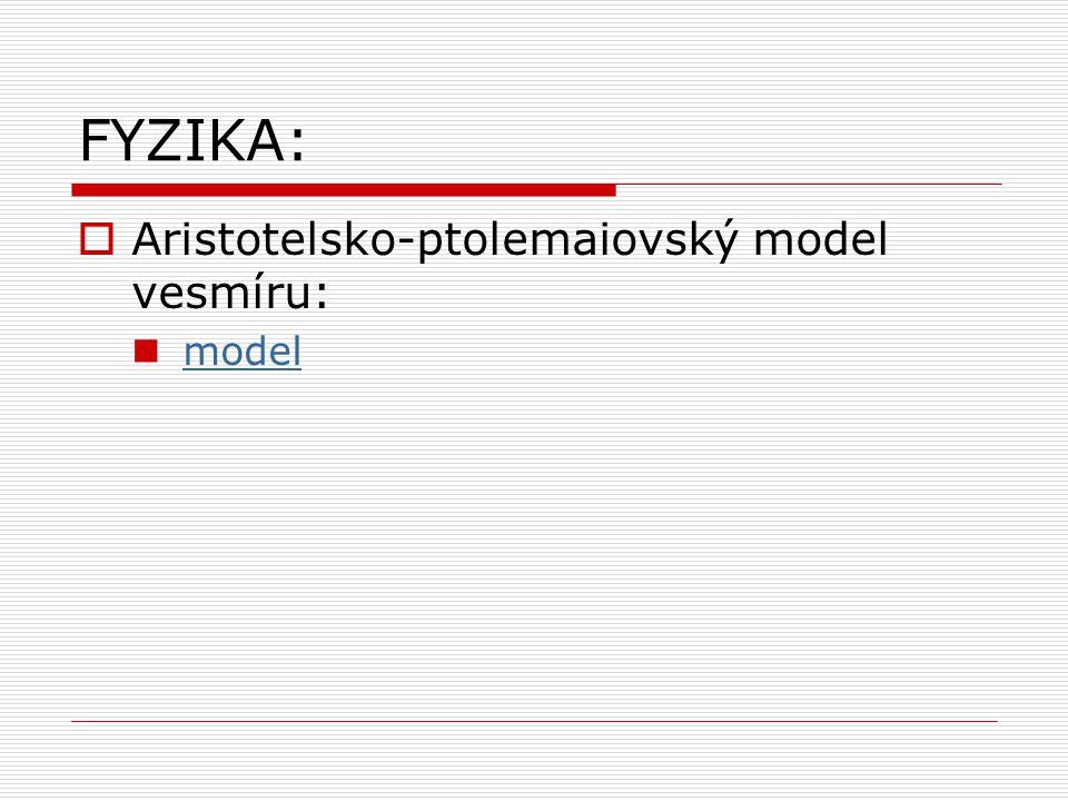 FYZIKA: Aristotelsko-ptolemaiovský model vesmíru: model