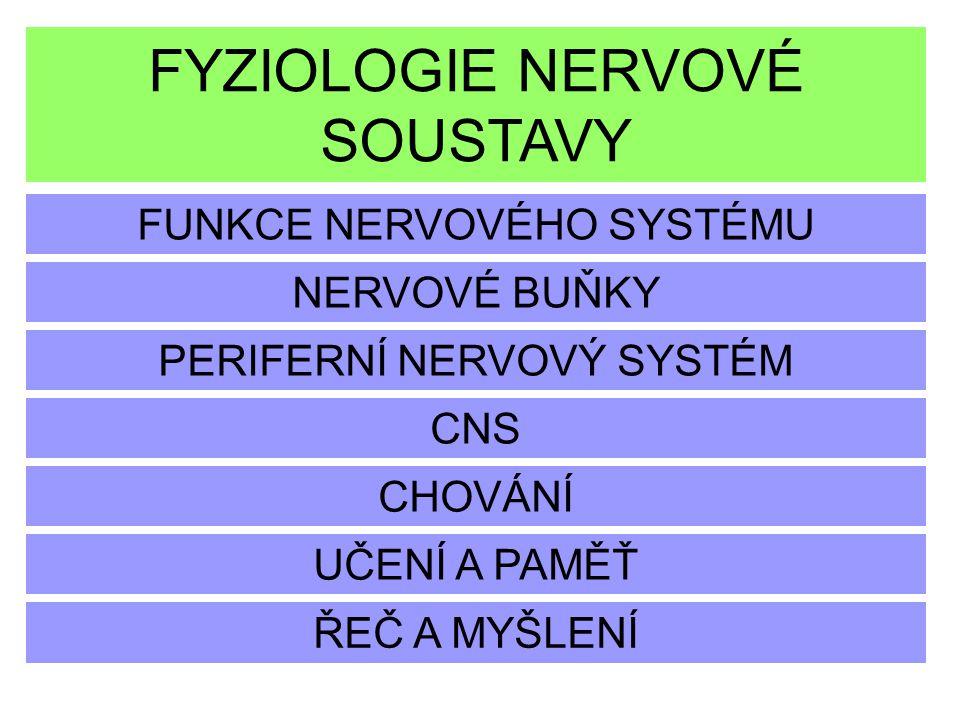 FYZIOLOGIE NERVOVÉ SOUSTAVY