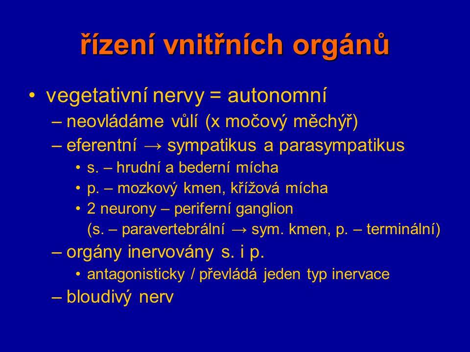 řízení vnitřních orgánů