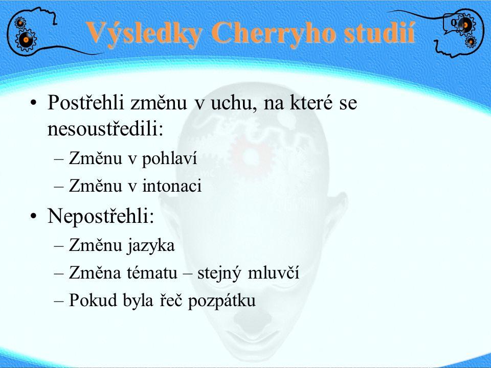 Výsledky Cherryho studií