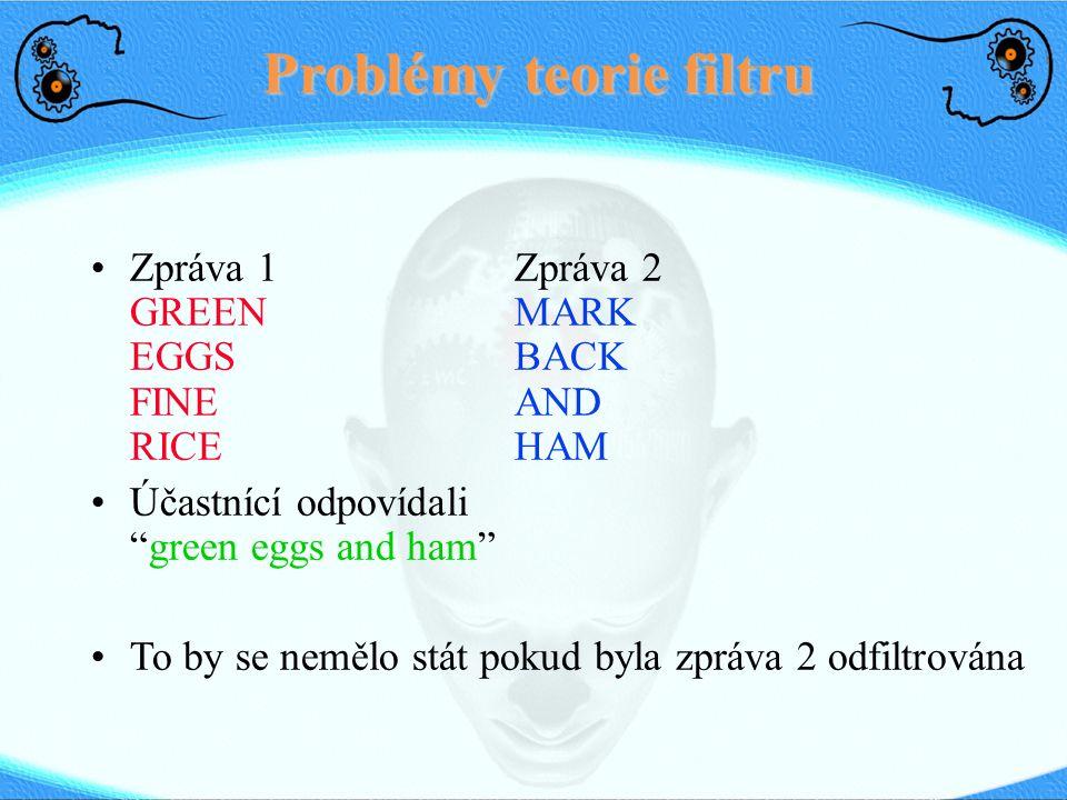 Problémy teorie filtru