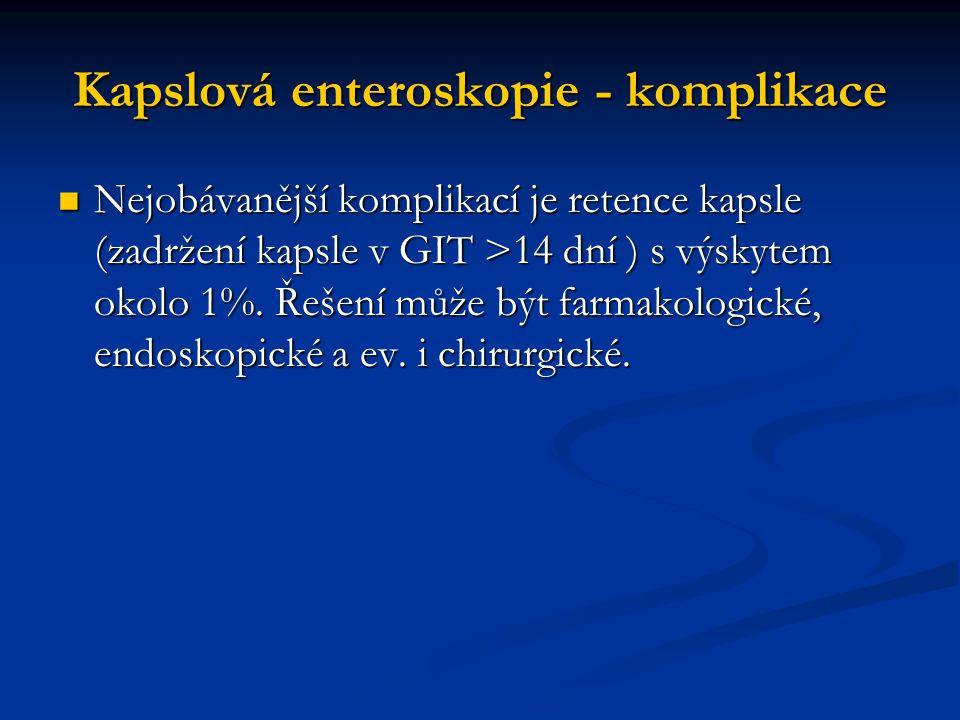 Kapslová enteroskopie - komplikace