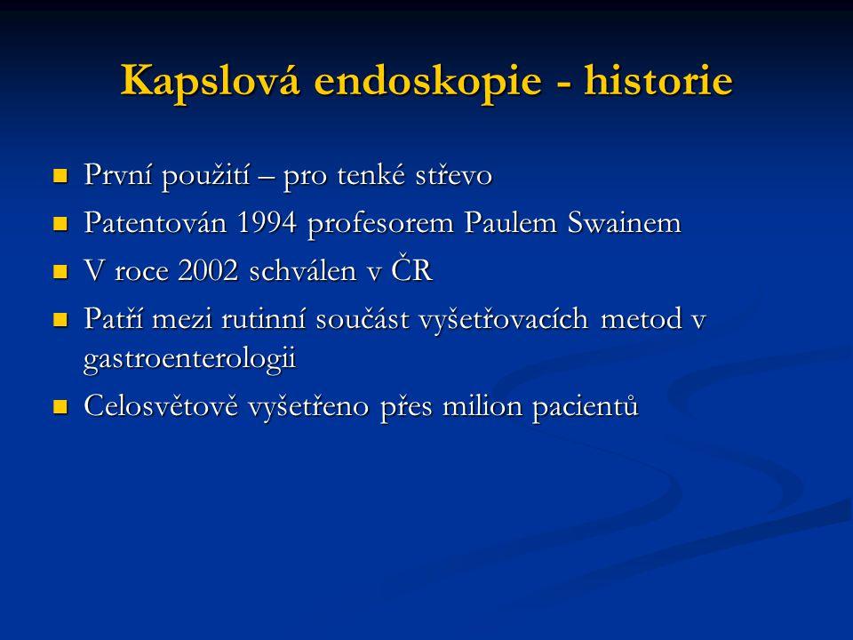 Kapslová endoskopie - historie