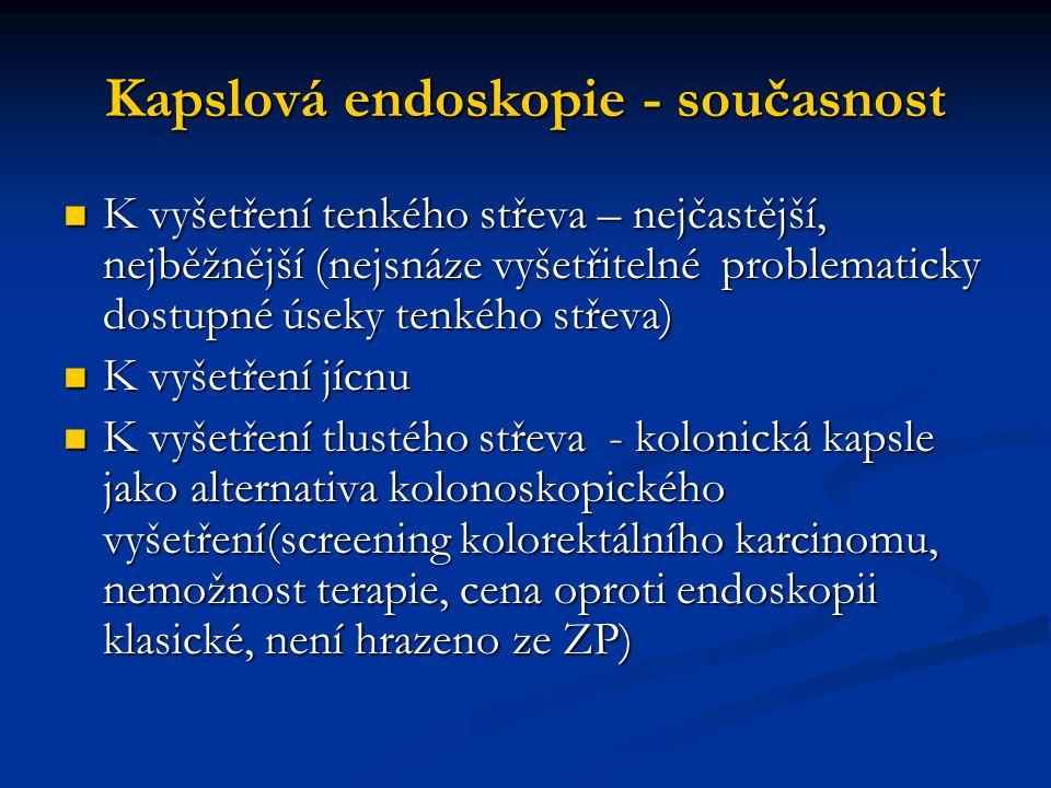 Kapslová endoskopie - současnost