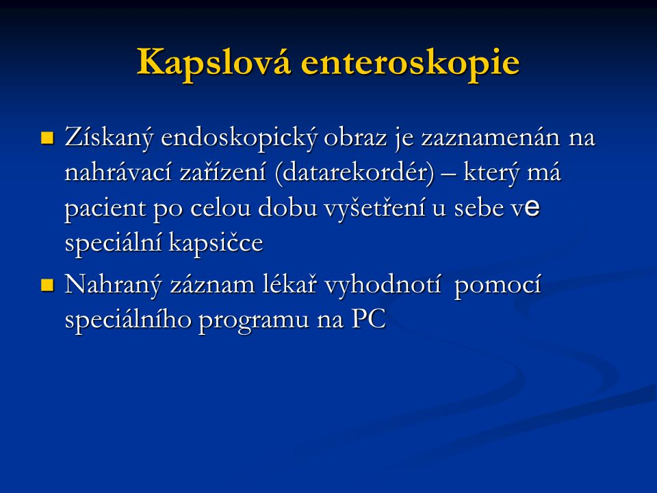 Kapslová enteroskopie