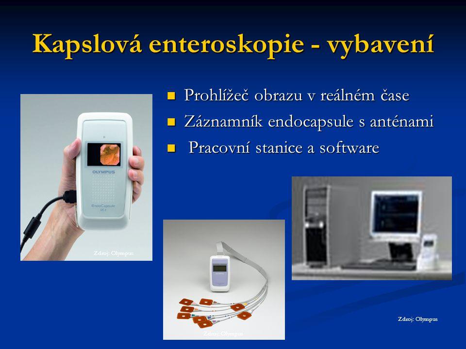Kapslová enteroskopie - vybavení
