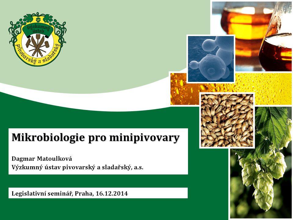 Mikrobiologie pro minipivovary Dagmar Matoulková Výzkumný ústav pivovarský a sladařský, a.s.