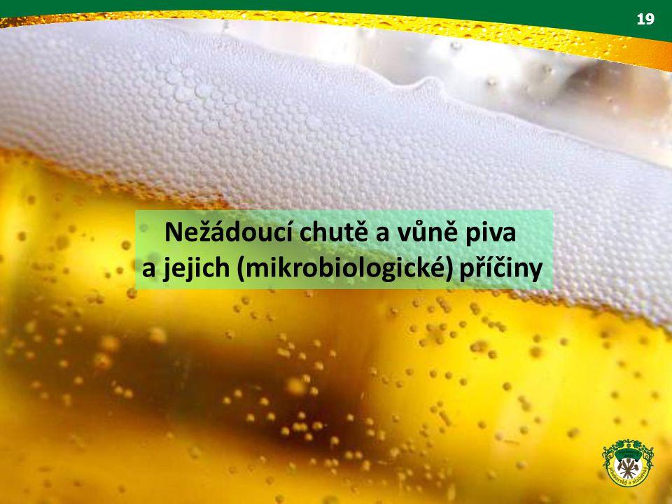 Nežádoucí chutě a vůně piva