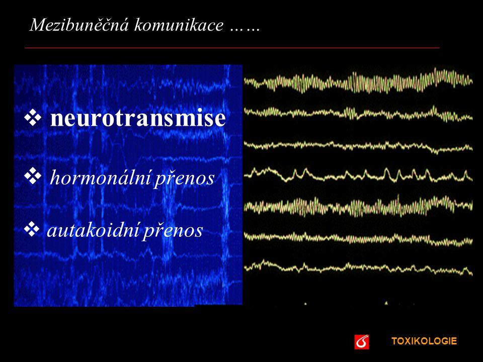 neurotransmise hormonální přenos autakoidní přenos