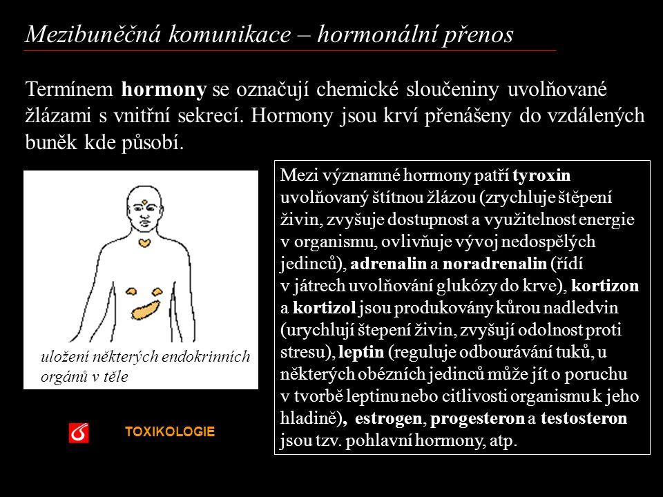 Mezibuněčná komunikace – hormonální přenos