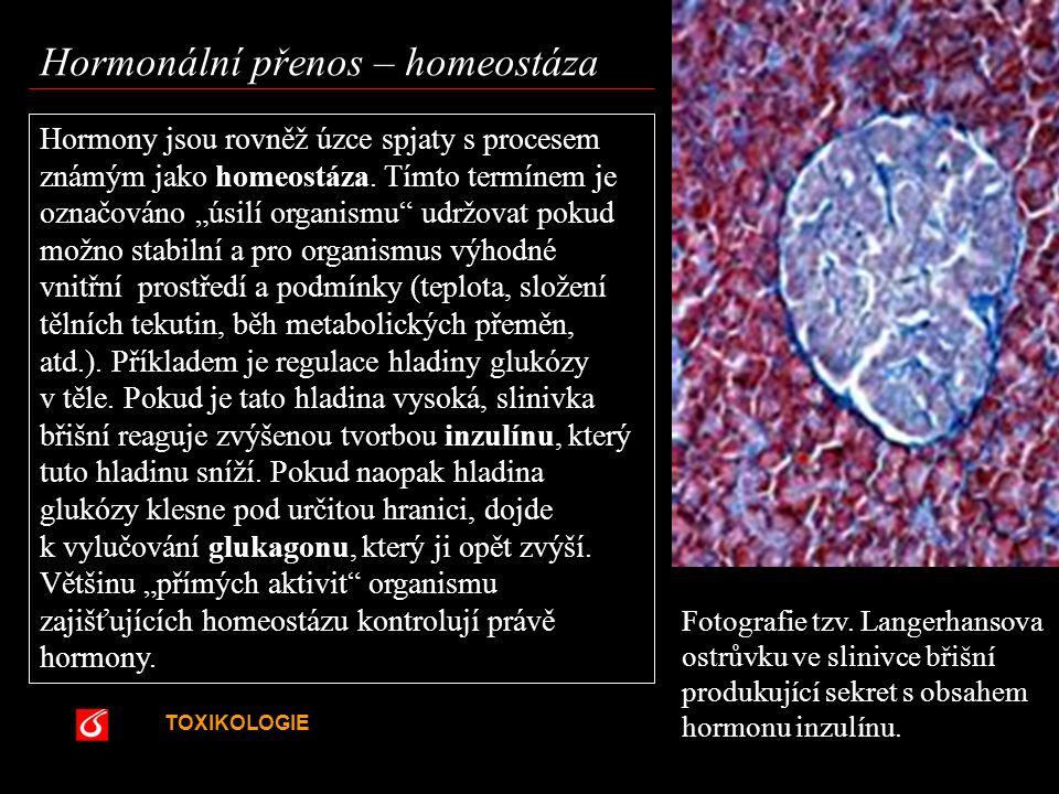 Hormonální přenos – homeostáza