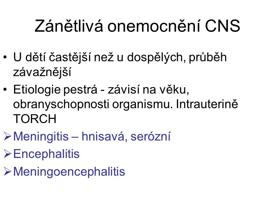 Zánětlivá onemocnění CNS